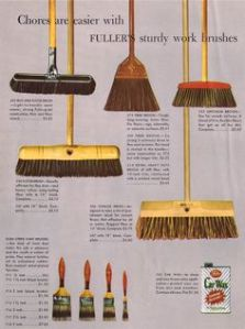 We had a lot of these Fuller Brush brooms over the years.